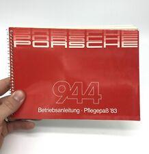 Porsche 944 Betriebsanleitung Handbuch Pflegepass Original 1983 ´83 OLDTIMER 911