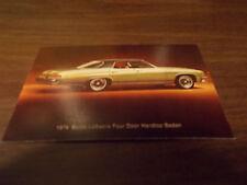 1974 Buick LeSabre Four Door Hardtop Sedan Advertising Postcard