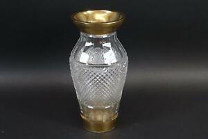 Art Deco Vase Glas geschliffen vergoldet Josefinenhütte 1920er/30er Jahre(CQ638)