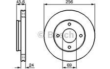 1x BOSCH Disco de freno delantero Ventilado 256mm 0 986 479 B83