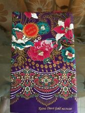 Cotton Batik Fabric Sarong Wrap Long Skirt  Purple Thai style The best Thai