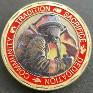 FIRE & RESCUE ST FLORIAN Challenge Coin FREE COIN STAND AND BRAND NEW FITTED COI
