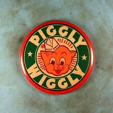 "Vintage Style Advertising Sign Fridge Magnet 2 1/4""  Piggly Wiggly 1950's Pig"
