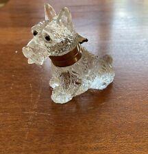 Wonderful Art Deco Glass Scotty Dog Czechoslovakian Inkwell Scottish Terrier