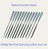 Luthier Needle File Tool Set for Guitar Bridge Nut Slot Fret Detailed Finishing
