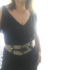 Veronika Maine Black V Neck Sleeveless Dress Size 14-16