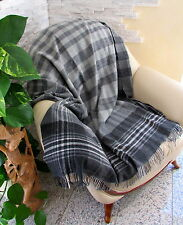 lana cuadros, colcha, cubierta SOFA 135x180 cm 100% Lana