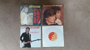"""Cliff Richard - 4 x 7"""" Singles - Baby You're Dynamite, The Only Way. + 2 others"""