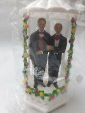 Same Sex Gay Wedding Cake Topper Decoration - Anniversary Cake... lgbt