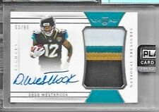 2017 National Treasures Dede Westbrook On Card Auto 4 Color Patch Rc 53/99
