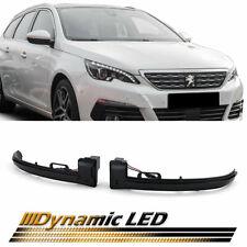 Clignotants dynamiques noirs à LED pour Peugeot 308 II