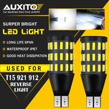 2X AUXITO Backup Reverse Light 921 912 T15 LED 6000K White Bulb 2000LM 54SMD EDO