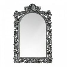 Decorative Home Decor Wall Mirror Grand Silver Wood Frame Bathroom Bedroom