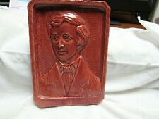 1943 Jules Scarceriaux Pottery H. Thoreau Sculpture Plaque Rare!