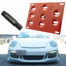 Red License Plate Bracket Mounting Holder Adapter For Porsche 911 924 Boxster