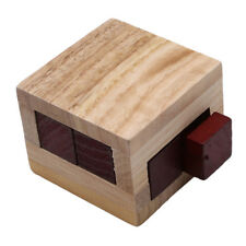 Wooden Magic Puzzle Brain Teaser Lock Box for Intelligence Games LH