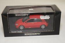 YY 1:43 MINICHAMPS TOYOTA COROLLA 5-DOOR 2001 RED MINT BOXED