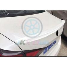 For Nissan Altima 2019 ABS White Rear Tail Trunk Spoiler Wing Lip Cover Trim 1Pc