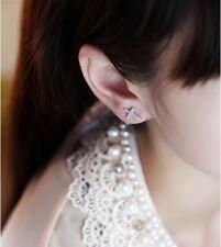 Silver Cross Diamante Crystal Earrings