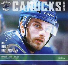 Vancouver Canucks 11/25/13 vs Los Angeles Kings - NHL Hockey gameday program