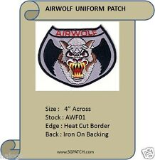 AIRWOLF HELICOPTER PILOT PATCH - AWF01