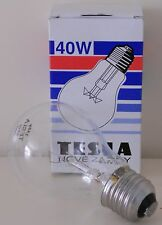 10 Lampade 40W E27 Incandescenza  Lampadina goccia chiara