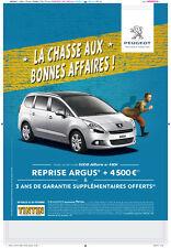 Tintin Affiche peugeot 5008 tintin Abri bus