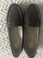 Womens SAS Brown Slip On Comfort Loafer Size 7.5W