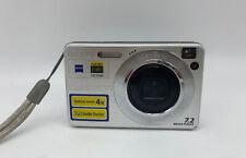 Nice Sony Cyber-shot DSC-W110 7.2MP Digital Camera - Silver Tested