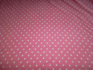 Pottery Barn Teen Pink White Dottie Twin Duvet Cover Matching Sham Polka Dot