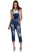 Jeans da donna blu denim strappato, sfilacciato