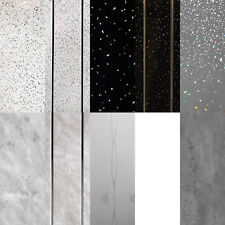 White Panels, Sparkle Effect Cladding, Marble Bathroom Shower Wall Panels PVC
