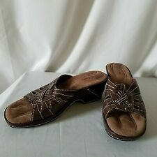 Clarks Allison Leather Women's Sandals Size 8 M Brown Open Toe Heel