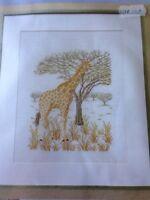 Giraffe Cross Stitch Kit by Permin of Copenhagen