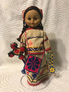 """Doll """"Nayabit"""" made by Rococo / Mexico Mexican Girl with Braids 12"""" (Vinyl)"""