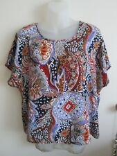 NITE & DAY   size  16   Beautiful Slinky Polyester Colourful top.....BRAND NEW *