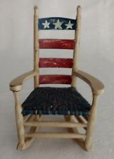 Americana Mini Small Decorative Red White Blue Rocking Chair Collectible