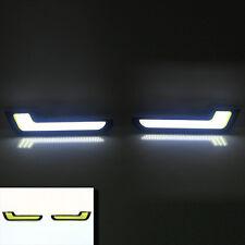 DAY RUNNING LIGHT forma L Mercedes Stile Bianco COB LED estremamente LUMINOSO