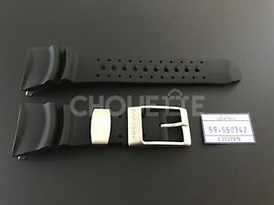 Genuine Citizen BJ8050-08E EcoZilla 29mm Black Rubber Watch Band Strap 59-S50342
