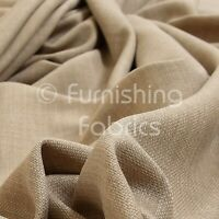 10 Metres Of Soft Lightweight Upholstery Curtains Chenille Fabric Cream Colour