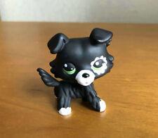 Littlest Pet Shop Custom OOAK LPS Collie Dog Black Hand Painted Figure
