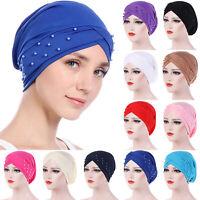 Women Muslim Frontal Cross Bonnet Hijab Turban Hat Chemo Cap Head-scarf Headwrap