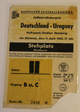 Ticket for collectors * West Germany - Uruguay 1962 Hamburg