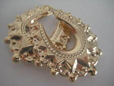 Victorian hoop earrings gold EXTRA EXTRA LARGE 9 carat yellow gold