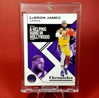 Lebron James EXLUSIVE CHRONICLES LAKERS CARD - INVESTMENT - UV CASE - MINT
