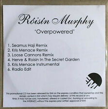 ROISIN MURPHY * OVERPOWERED * UK 6 TRK PROMO * HTF! * SEAMUS HAJI * KRIS MENACE