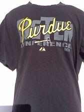 Purdue Boilermakers black T-Shirt sz XL NCAA Big Ten University BY Majestic