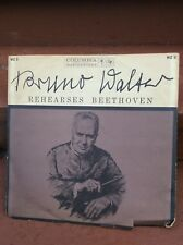 Bruno Walter - Rehearses Beethoven LP Promo WZ-3 Columbia 6 Eye Record VG++