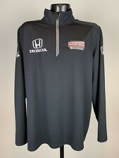 Men's Schmidt-Peterson Motorsports James Hinchcliffe Black 1/2 Zip Jacket Large