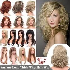 Women Fashion Short Long Curly Wig Blonde Ladies Bob Wavy Hair Wigs Bangs Fringe